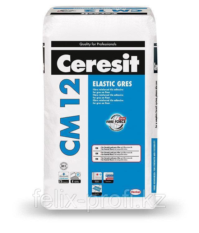 Ceresit  CM 12 Клей для керамогранита и крупноформатной плитки,25кг.