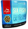 Сублимированное лакомство для кошек всех пород Orijen Six Fish 6ть рыб