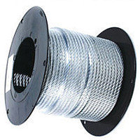 Трос стальной (DIN 3055) в оплетке ПВХ 4/5мм (1м) ПРОМ