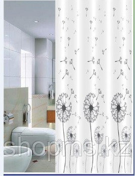 Шторка для ванной комнаты 180 х 180 (ЕСО ткань) Одуванчик, фото 2