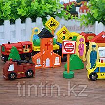 Деревянный городок - Сity traffic building block, фото 2