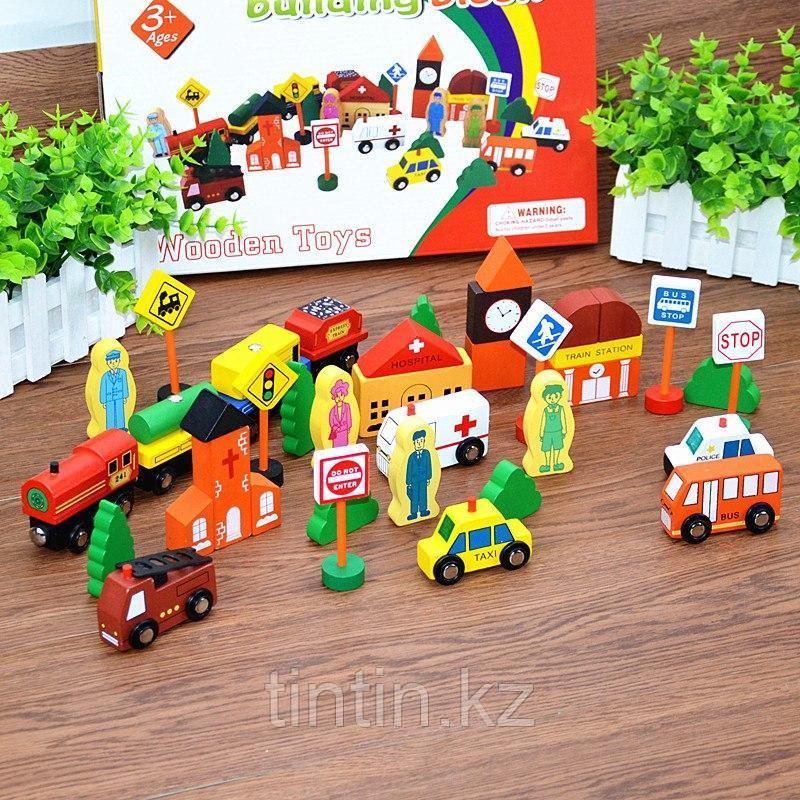 Деревянный городок - Сity traffic building block