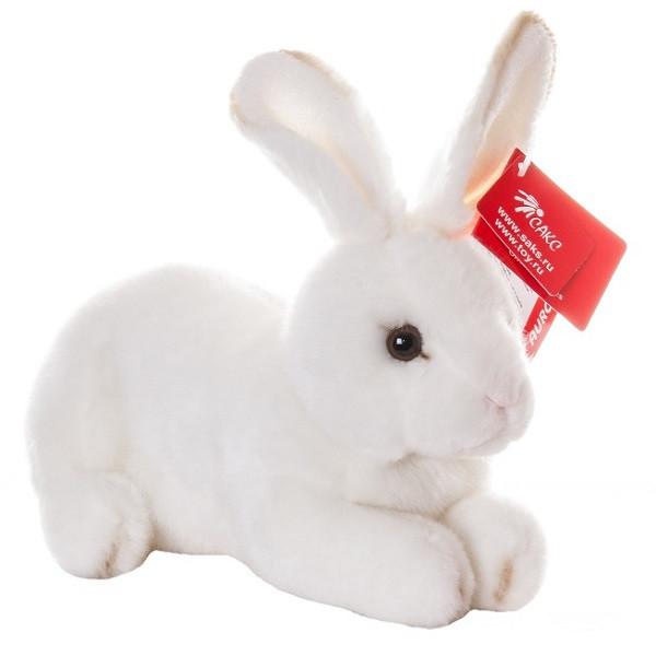 AURORA Игрушка мягкая Кролик белый 25 см