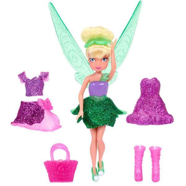 Кукла Дисней Фея 11 см, с волосами и доп платьем