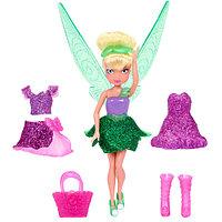 Кукла Дисней Фея 11 см, с волосами и доп платьем, фото 1
