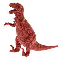 Игрушка Динозавр резиновый с наполнением гранулами, средний , в ассортименте, фото 1