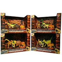 Игрушка игровой набор динозавров (5 дино+дерево) в асс