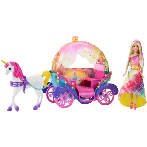Игрушка Barbie Набор Радужная карета и кукла