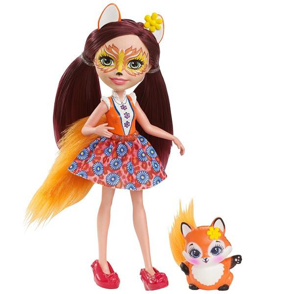Игрушка MATTEL Enchantimals Кукла Фелисити Лис, 15 см (DVH87)
