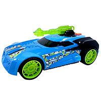 Машинка Hot Wheels на бат. свет+звук голубая 27 см