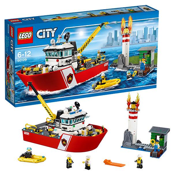 Игрушка Lego City (Лего Город) Пожарный катер