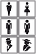 Металлические таблички на туалет, таблички для сан узлов, фото 6