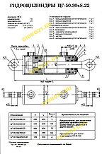 Гидроцилиндр ЦГ-50.30х320.22-01