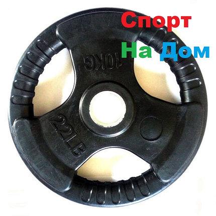 Блины (диски) для олимпийской штанги с хватом (Черные), фото 2
