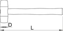 Молоток с бойком из полиуретана 820A, фото 2