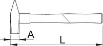 Молоток слесарный с защитным кожухом 812A, фото 2