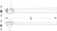 Резак для прутков с резьбой М8, М10, М12 586/6, фото 2