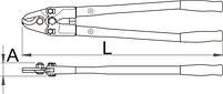Кусачки для кабеля 585/6, фото 2