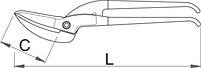 Ножницы по металлу Пеликан 567R/7P, фото 2