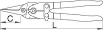 Ножницы по металлу рычажные Пеликан 591L-PLUS/3DP, фото 2