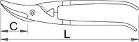 Ножницы по металлу универсальные 563L-PLUS/7DP, фото 2
