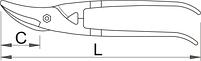 Ножницы по металлу универсальные 563R-PLUS/7DP, фото 2