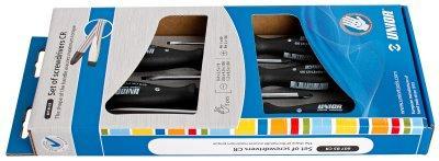 Набор отвёрток, рукоятки CR, в картонной упаковке 607B5CR