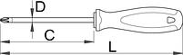 Отвёртка крестовая PH, рукоятка TBI 615TBI, фото 2