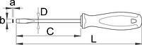 Отвёртка шлицевая, рукоятка TBI 605TBI, фото 2