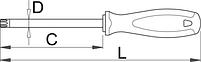 Отвёртка с профилем TORX, рукоятка TBI 621TBI, фото 2