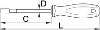 Отвёртка внутренний шестигранник, рукоятка TBI 629TBI, фото 2