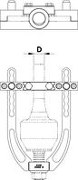 Съёмник для шарниров равных угловых скоростей (ШРУС) 2041/2, фото 2