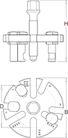 Съёмник зубчатого шкива универсальный 2210/2A, фото 2