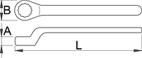 Ключ накидной односторонний изолированный 180/2VDEDP, фото 2