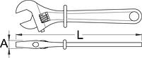 Ключ разводной изолированный 250/1VDEDP, фото 2