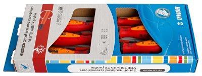 Набор отвёрток с профилем жала TORX изолированных, рукоятки TBI, в картонной упаковке 621CS6VDETBI