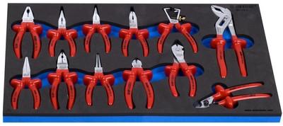 Набор шарнирно-губцевого инструмента изолированного в SOS-ложементе 964VDE3
