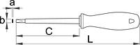 Отвёртка шлицевая изолированная электрика 603VDE, фото 2