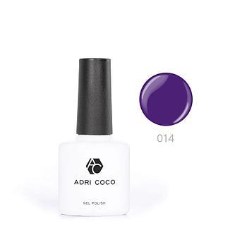 Цветной гель-лак ADRICOCO №014 фиолетовый (8 мл.)
