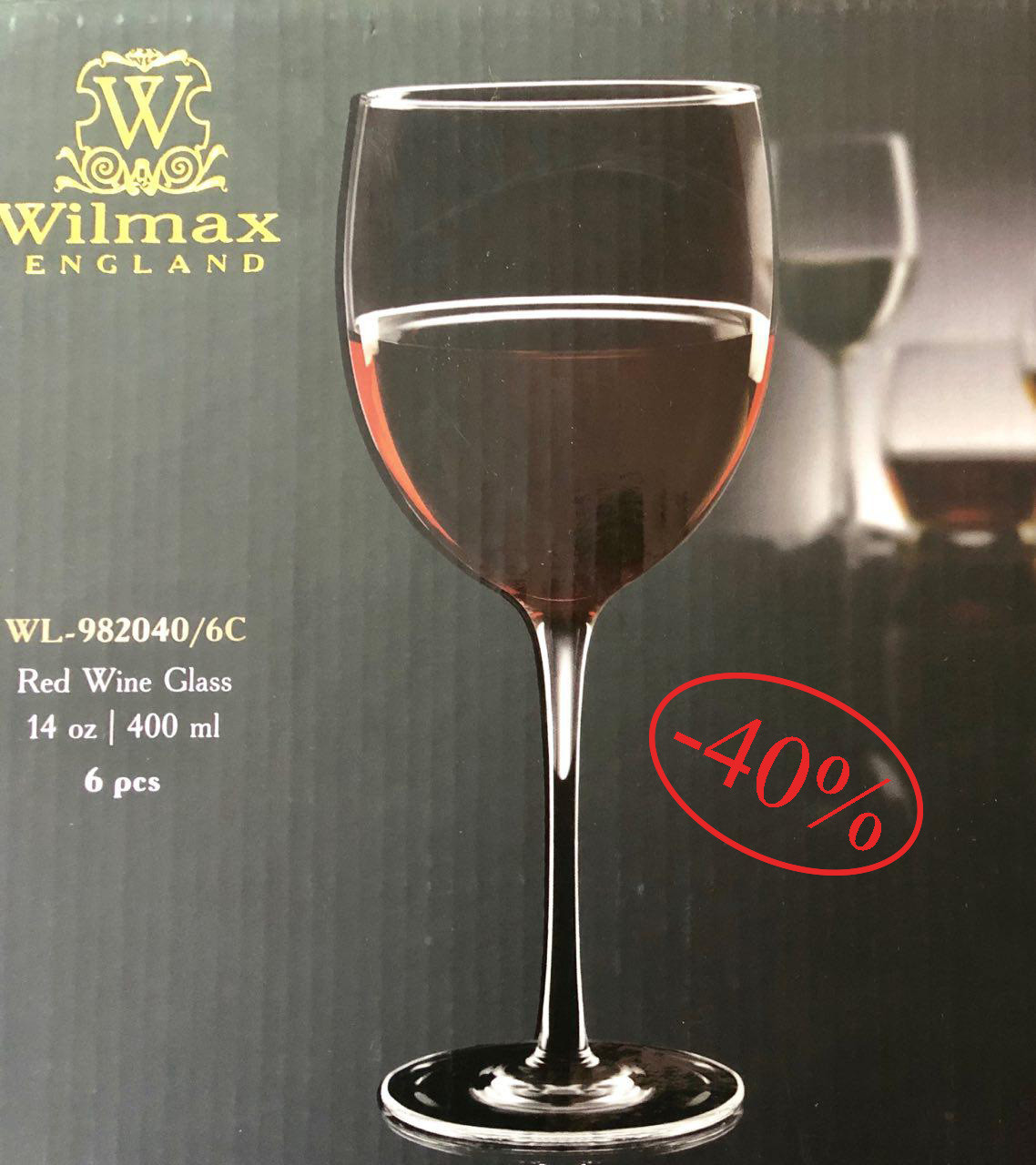 Набор бокалов для красного вина Wilmax BELLA