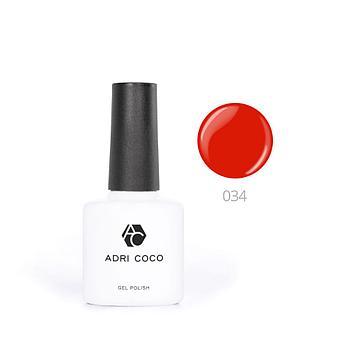 Цветной гель-лак ADRICOCO №034 терракотовый (8 мл.)