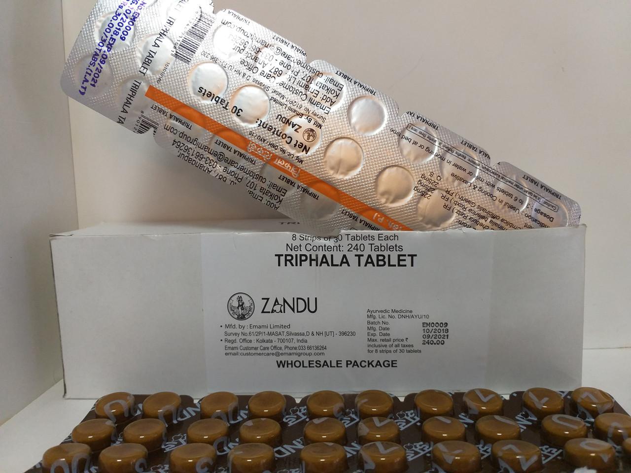 Трифала Занду в таблетках - очищение и омоложение, ZANDU, 30 таб.