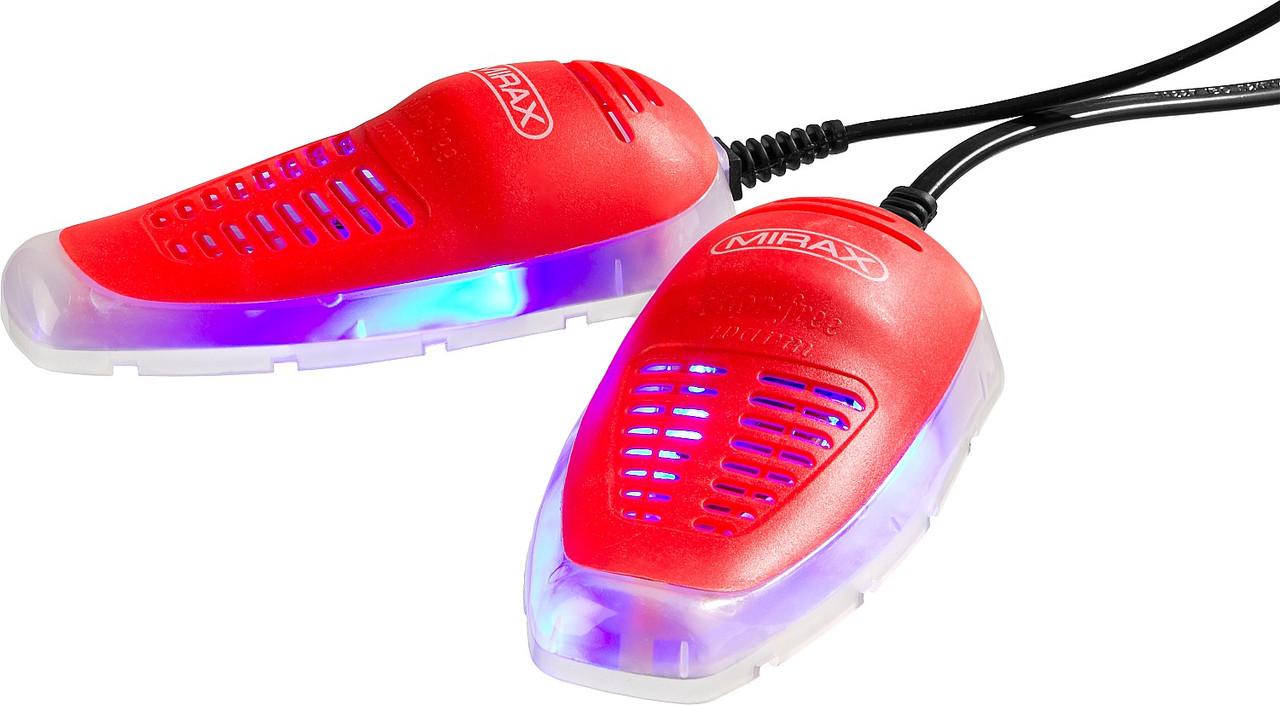 Сушилка для обуви MIRAX, 55448, 220 В/50 Гц, 65-80ºС, антибактериальная УФ-подсветка