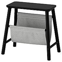Табурет-ящик ВИЛЬТО черный ИКЕА, IKEA