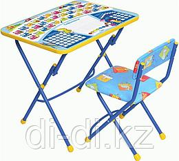Набор мебели НИКА, Первоклашка, синий фон (стол+стул мягк)