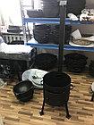 Печь из усиленной стали с трубой и дверцей 12 л, фото 3