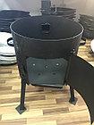 Печь из усиленной стали с трубой и дверцей 12 л, фото 2