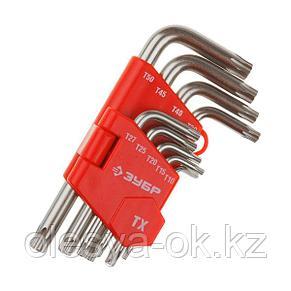 Ключи имбусовые TORX Т10-Т50, 9 шт. ЗУБР, фото 2