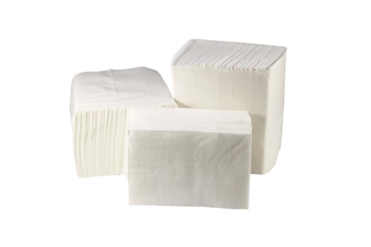 Бумажные салфетки в пачках для настольного диспенсера