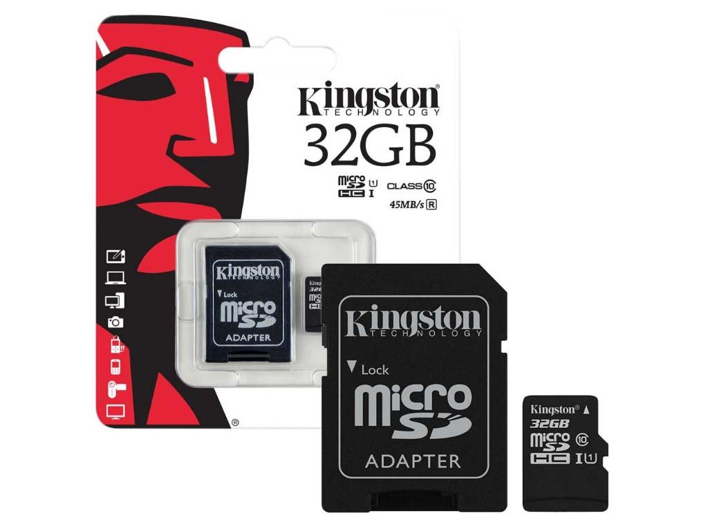 Карта памяти SDHC Kingston 16GB Class10 UHS-I